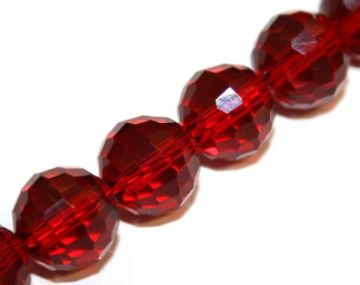 100pcs x 6mm Dark red faceted round glass beads -- S.J -- 3005735